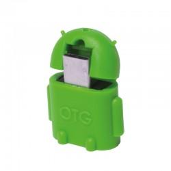 LogiLink - AA0067 adaptador de cable Micro-USB-OTG USB 2.0 Verde