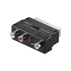 Goobay - AVK 196 SCART 3x RCA + 1x mini DIN (4-pin) Negro