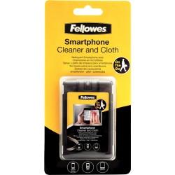 Fellowes - 9910601 PC Tableta Líquido y paños secos para limpieza de equipos kit de limpieza para computadora