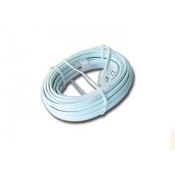 Gembird - TC6P4C-3M cable telefónico Blanco