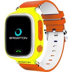 "Brigmton - BWATCH-KIDS-Y reloj inteligente Naranja, Blanco, Amarillo LCD 3,1 cm (1.22"") Móvil GPS (satélite)"