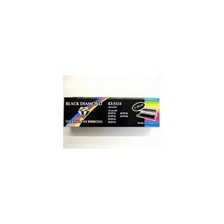 Panasonic - KX-FA54X Fax ribbon 210páginas Negro 2pieza(s) suministro para fax