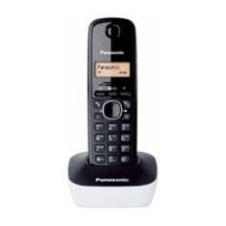 Panasonic - KX-TG1611 DECT Identificador de llamadas Negro, Color blanco