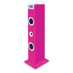 Bigben Interactive - TW5RSSTICK sistema de audio para el hogar Home audio tower system Rosa 20 W
