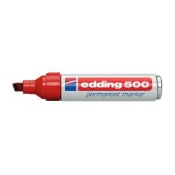 Edding - 500 marcador permanente Rojo 10 pieza(s)