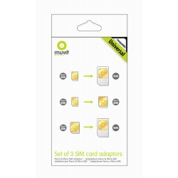 Muvit - MUMIC0003 adaptador para tarjeta de memoria sim / flash SIM card adapter