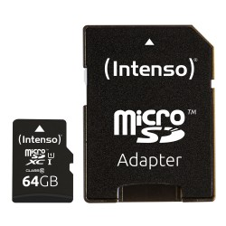 Intenso - 64GB microSDXC memoria flash Clase 10 UHS-I