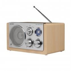 Denver Electronics - TR-64LIGHT WOOD radio Portátil Analógica Plata