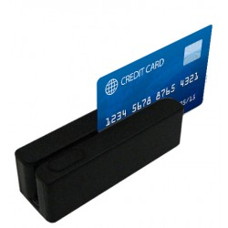 Posiberica - LECTOR TARJETA B.M. 3 PISTAS USB NEGRO