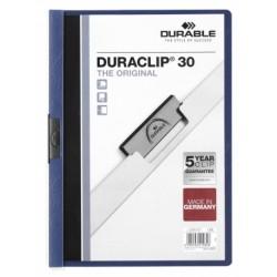 Durable - Duraclip 30 archivador Azul, Transparente PVC