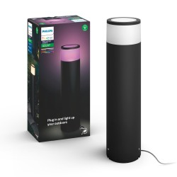 Philips by Signify - Hue White and Color ambiance Lámpara de pedestal grande para exteriores Calla