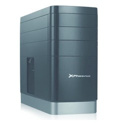 Phoenix Technologies - PH2503 Escritorio Negro, Plata carcasa de ordenador