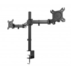 """1Life - 1IFESPT1327DUALM soporte de mesa para pantalla plana 68,6 cm (27"""") Abrazadera/Atornillado Negro"""