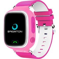 "Brigmton - BWATCH-KIDS-R reloj inteligente Rosa, Blanco LCD 3,1 cm (1.22"") Móvil GPS (satélite)"