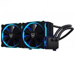 Nfortec - Hydrus 240 Blue - Refrigeración Líquida, color negro