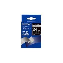 Brother - Gloss Laminated Labelling Tape - 24mm, White/Black cinta para impresora de etiquetas TZ