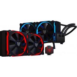 Nfortec - Hydrus 240 Red – Wasserkühlung, schwarz refrigeración agua y freón