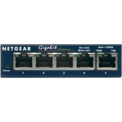 Netgear - GS105 Unmanaged network switch Gigabit Ethernet (10/100/1000) Azul