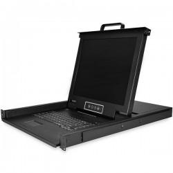 "StarTech.com - RKCONS1708K consola de rack 43,2 cm (17"") 1280 x 1024 Pixeles Acero Negro 1U"