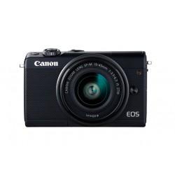 Canon - EOS M100 + EF-M 15-45mm IS STM MILC 24,2 MP CMOS 6000 x 4000 Pixeles Negro