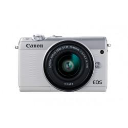 Canon - EOS M100 Juego de cámara SLR 24,2 MP CMOS 6000 x 4000 Pixeles Blanco