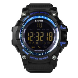 "Brigmton - BWATCH-G1-A reloj inteligente Negro, Azul 2,84 cm (1.12"")"
