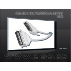 3GO - C302 cable de impresora 5 m Beige