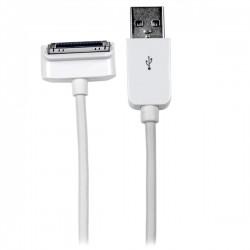 StarTech.com - Cable Cargador 1m Conector Dock Connector 30 Pin Acodado Abajo de Apple a USB 2.0 iPod, iPhone y iPa