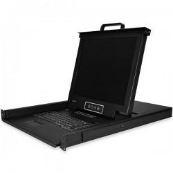 "StarTech.com - RKCONS1716K consola de rack 43,2 cm (17"") 1280 x 1024 Pixeles Acero Negro 1U"