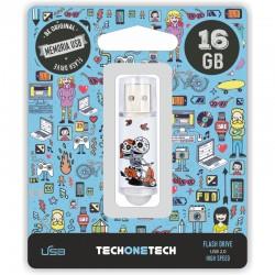 TECH1TECH - TEC4002-16 unidad flash USB 16 GB USB tipo A 2.0 Multicolor