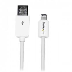 StarTech.com - Cable 1m Lightning 8 Pin a USB A 2.0 para Apple iPod iPhone 5 iPad - Blanco
