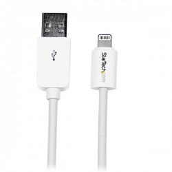 StarTech.com - Cable de 2m Lightning de 8 Pin a USB A 2.0 para Apple iPod iPhone 5 iPad - Blanco