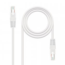 Nanocable - CABLE RED LATIGUILLO RJ45 CAT.6 UTP AWG24, BLANCO, 2.0 M