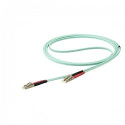 StarTech.com - Cable de 10m de Fibra Óptica Multimodo Dúplex 50/125 LC a LC - Aqua - OM4 - LSZH