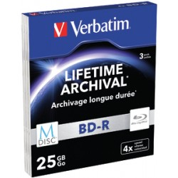 Verbatim - 43827 25GB BD-R 3pieza(s) disco blu-ray lectura/escritura (BD)