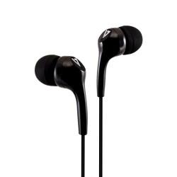 V7 - Auriculares internos estéreo, ligeros, aislamiento de ruido para utilizar dentro del oído, 3,5 mm, negro