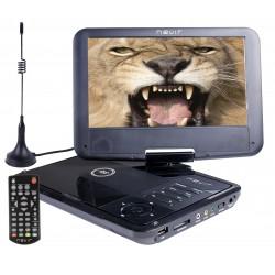 "Nevir - NVR-2767DVD-PUCT2 reproductor de dvd/bluray portátiles Reproductor de DVD portátil Convertible Negro 22,9 cm (9"") 800 x"