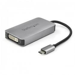 StarTech.com - Adaptador USB-C a DVI - Conversor USB Tipo C a DVI con Doble Enlace - Convertidor Activo