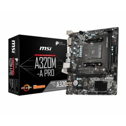 MSI - A320M-A PRO placa base Zócalo AM4 Micro ATX AMD A320 - 22404752