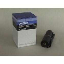 Brother - PC-104RF suministro para fax 700 páginas Negro Cinta de fax 4 pieza(s)