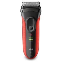 Braun - Series 3 3030s afeitadora Máquina de afeitar de láminas Recortadora Negro, Rojo