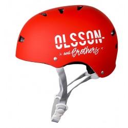 OLSSON and Brothers - S02CM0028 casco para bicicleta Casco clásico Casco para bicicleta urbana M/L Rojo