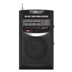 Nevir - NVR-136N radio Personal Analógica Negro