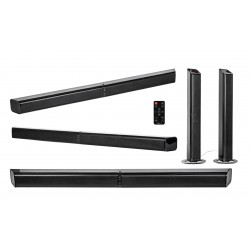Nevir - NVR-845 SBBU altavoz soundbar 2.0 canales 20 W Negro