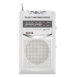 Nevir - NVR-136 radio Personal Analógica Negro
