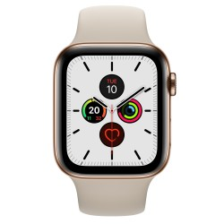 Apple - Watch Series 5 OLED 44 mm Oro 4G GPS (satélite) - MWWH2TY/A