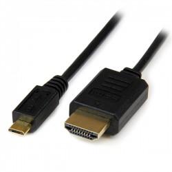 StarTech.com - Cable 3m Adaptador Pasivo Conversor MHL - Micro USB a HDMI para Teléfono Móvil - Audio y Vídeo