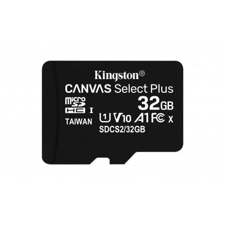Kingston Technology - Canvas Select Plus memoria flash 32 GB MicroSDHC Clase 10 UHS-I - 22399436