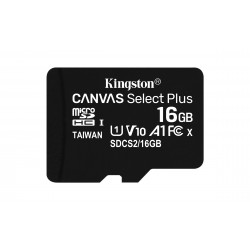 Kingston Technology - Canvas Select Plus memoria flash 16 GB MicroSDHC Clase 10 UHS-I - 22401153