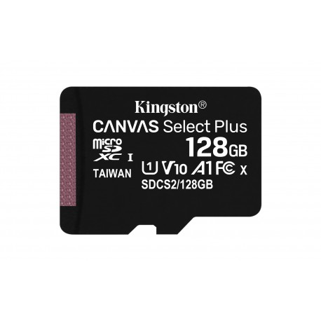 Kingston Technology - Canvas Select Plus memoria flash 128 GB MicroSDXC Clase 10 UHS-I - 22399421